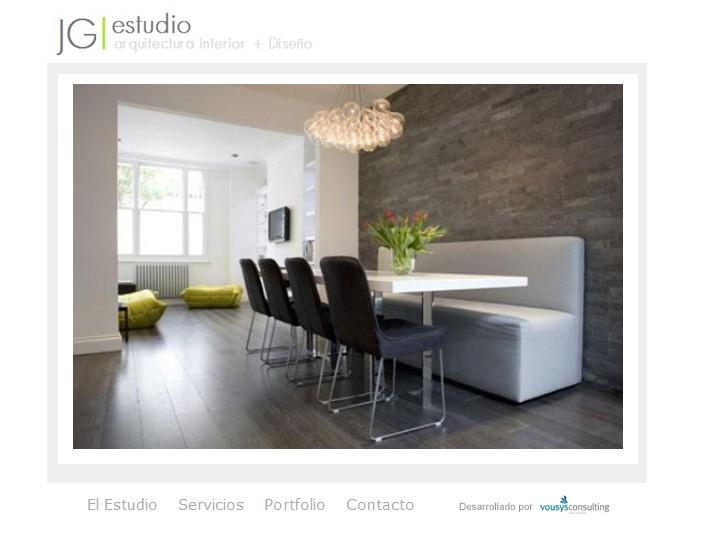 Website jg dise o interiores vousys te rockeamos tus ideas for Quiero estudiar diseno de interiores