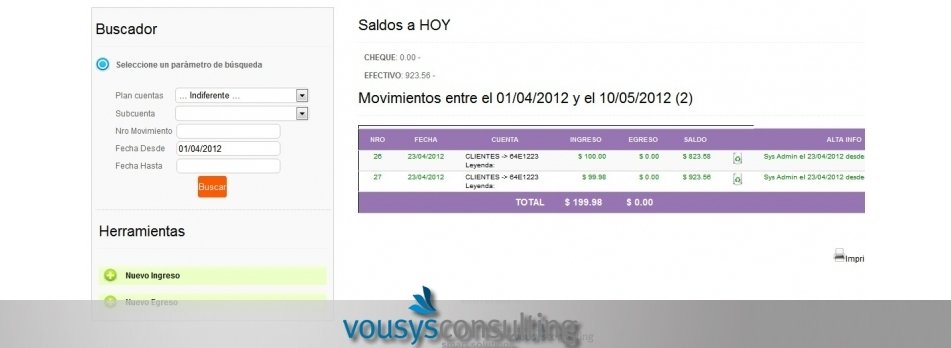 Vousys.com // Web management system