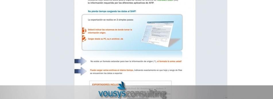 Vousys.com // Exportador al siap