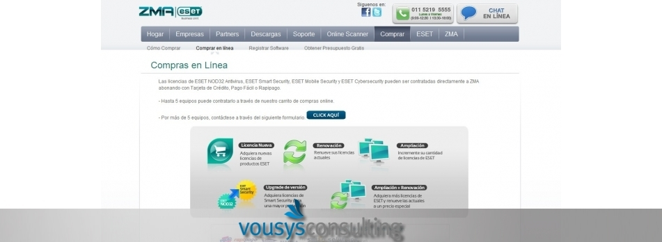 Vousys.com // Shopping cart zma-eset