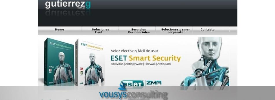Vousys.com // Desarrollo del portal gutierrezg.com.ar