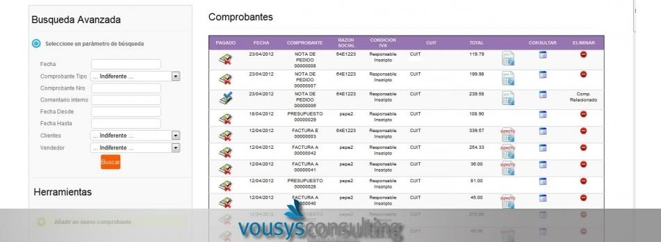 Vousys.com // Sistema de gestión web