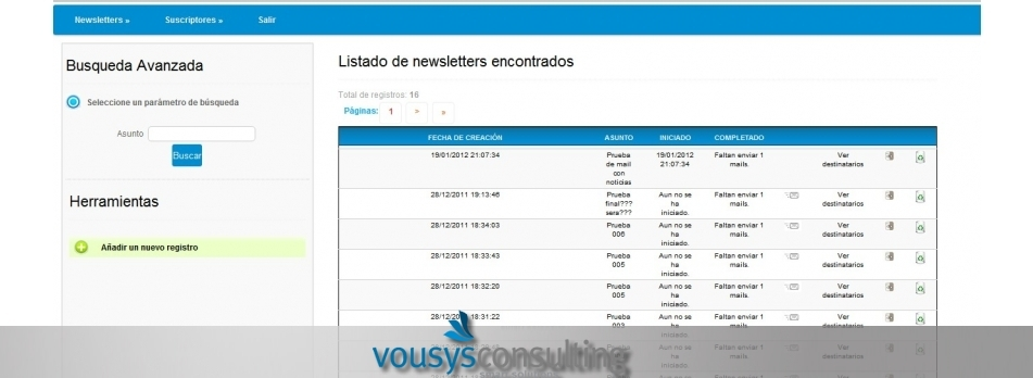 Vousys.com // Mailing system