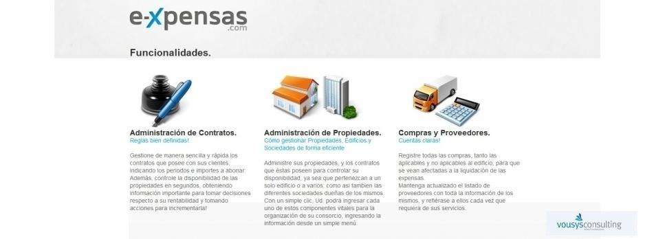 Vousys.com // Expensas claras | gesti髇 consorcios
