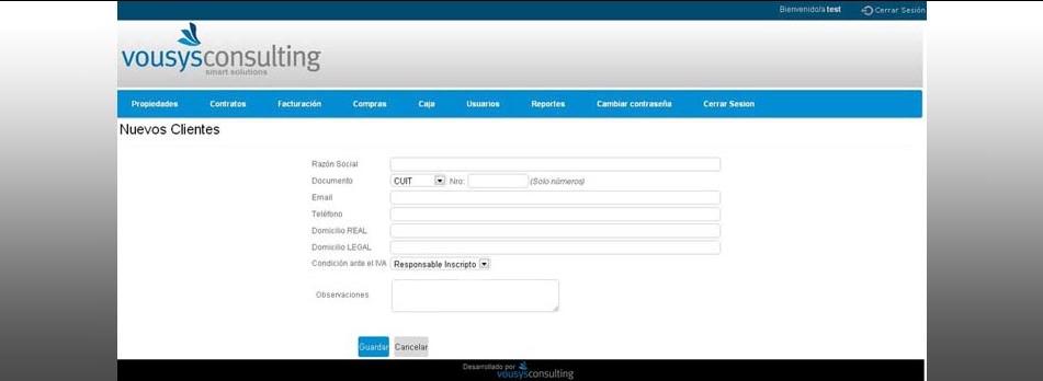 Vousys.com // Sistema de gesti髇 web para consorcios