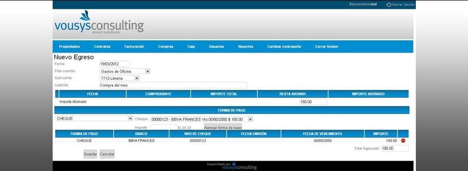 Vousys.com // Sistema de gestión web para consorcios