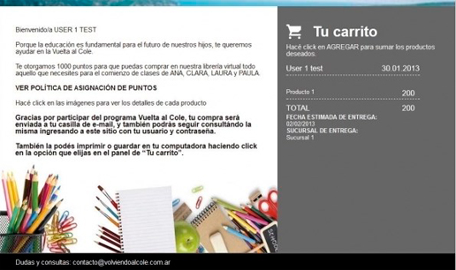 Vousys.com // Carrito de compras / club de puntos