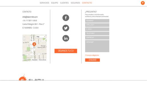 Vousys.com // Sitio web para slam! marketing