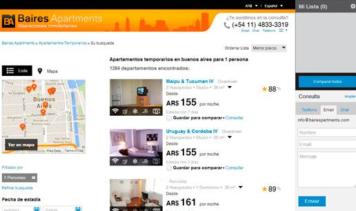 Vousys.com // Nuevo sitio web de baires apartments