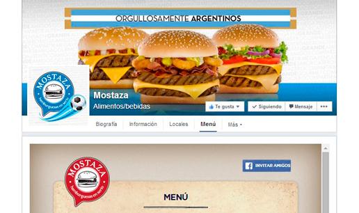Vousys.com // Aplicación para facebook: menú