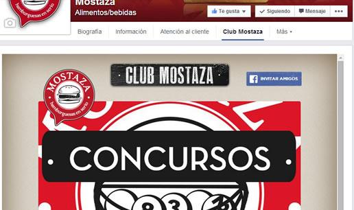 Vousys.com // Aplicación para facebook: club mostaza