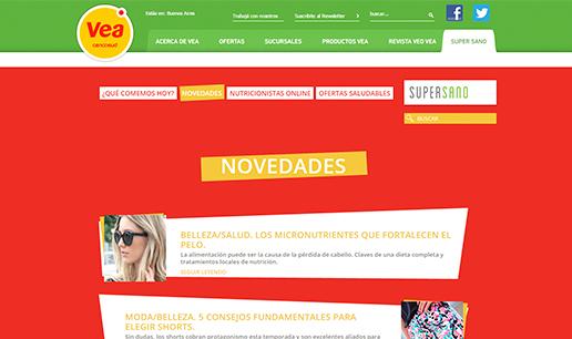Vousys.com // Re-maquetación del sitio vea supersano