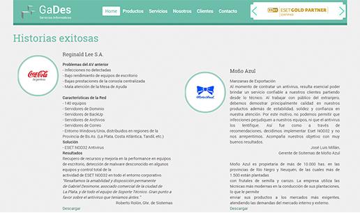 Vousys.com // Web responsive con gestor de contenidos