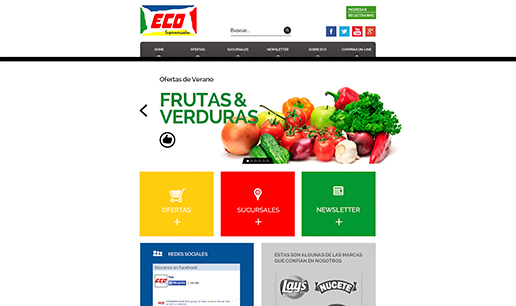 Vousys.com // Sitio web supermercados eco