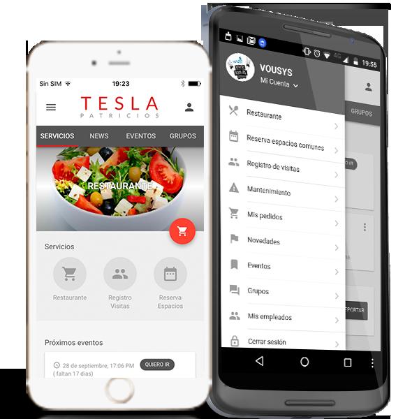 Vousys.com // Tesla office app